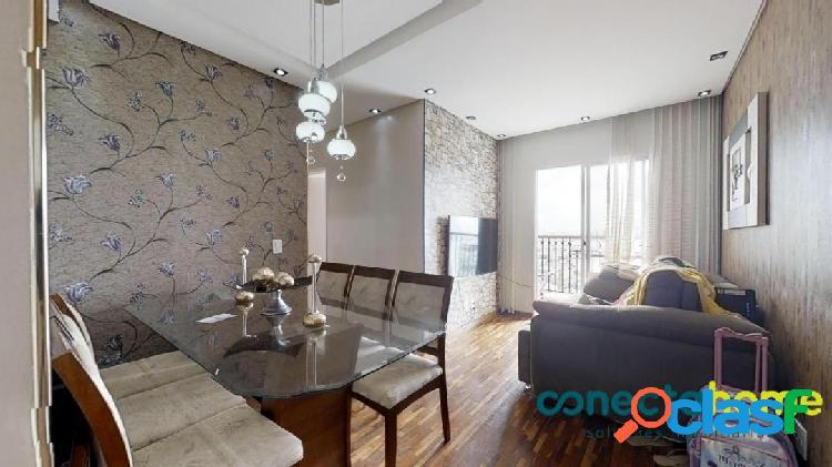 Apartamento mobiliado de 54 m², 2 dormitórios e 1 vaga na vila moraes