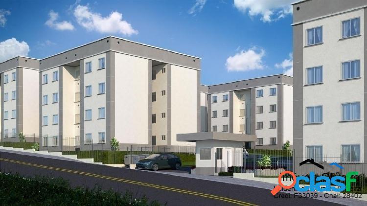 Apartamento edifício san remo com 2 dormitórios, 50m² total r$ 150.000,00