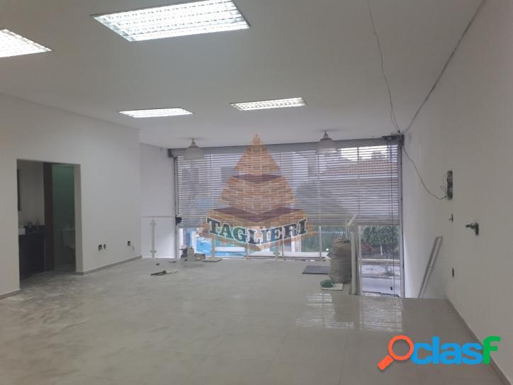 Salão comercial com frente vidro tatuapé 350 mts