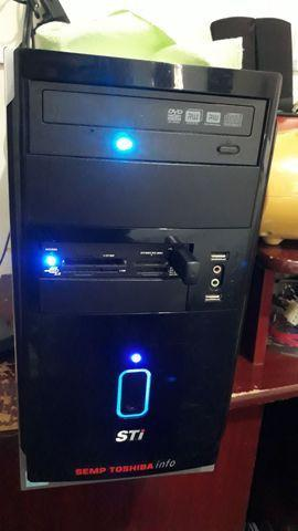 Cpu ddr2 memória 2 gb hd 500 gb placa vídeo