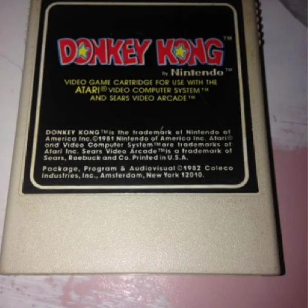 Donkey kong atari 2600 original coleco nintendo r$350