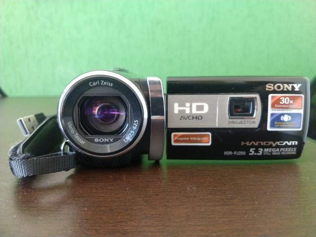 Filmadora sony full hd hdr-pj200