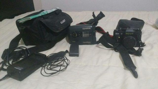 Filmadora gradiente e máquina fotográfica zenit