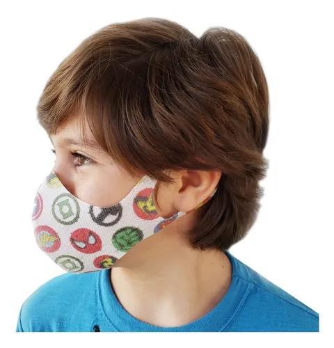Kit 10 máscaras de proteção lavável tnt infantil