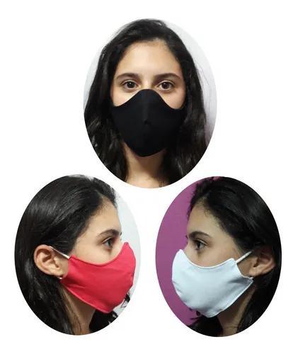 Kit 3 Máscaras Infantil Tecido 100% Algodão M. Dupla