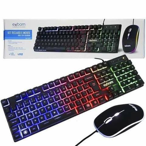 Kit Teclado Mouse Gamer Computador Pc