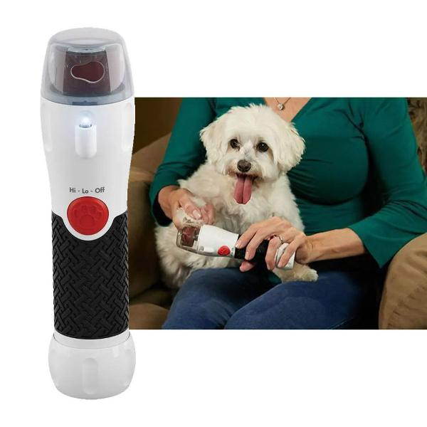 Lixador de unha cachorro gato pet portatil eletrico lixa