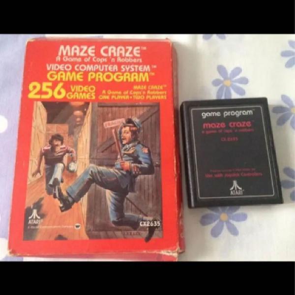 Maze craze atari 2600 com caixa raro r$329