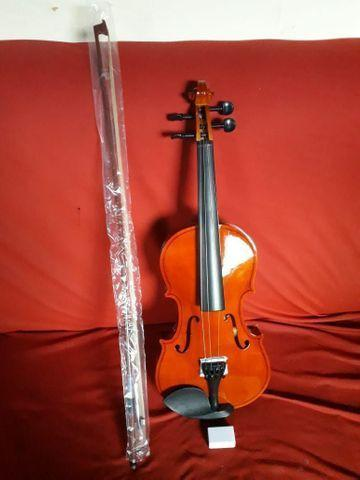 Mega promoção produto novo violino completo cordas