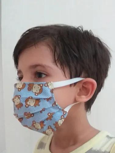Máscara de proteção tecido lavável adulto e infantil 6