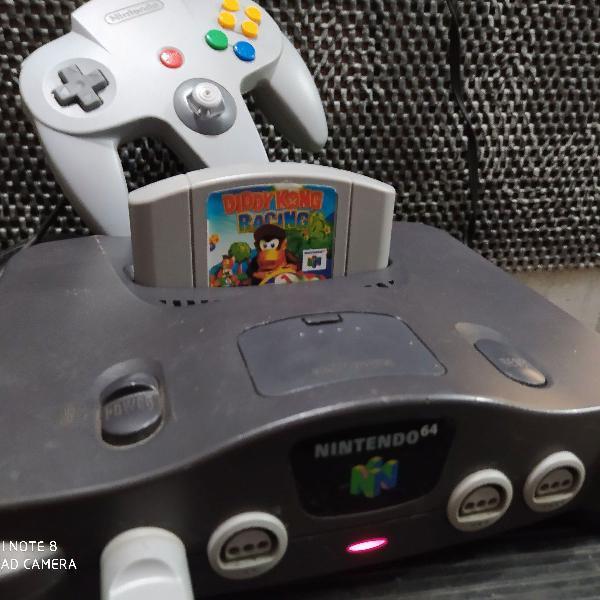 Nintendo 64+1 controle original + 1 jogo