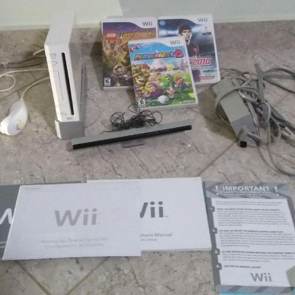 Nintendo wii sport completo usado na caixa