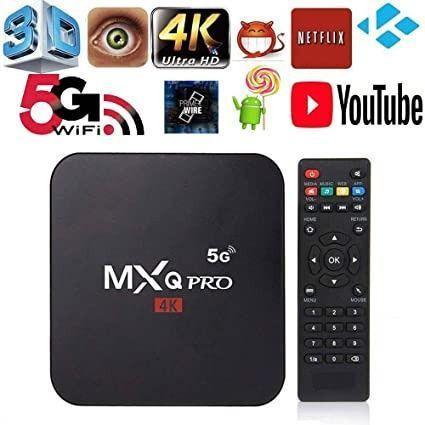 Tv box mxq pro android transforme sua tv em tv smart 4gb ram