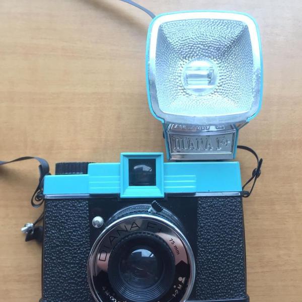 Câmera diana f+ lomo com flash + lente fish eye e frames