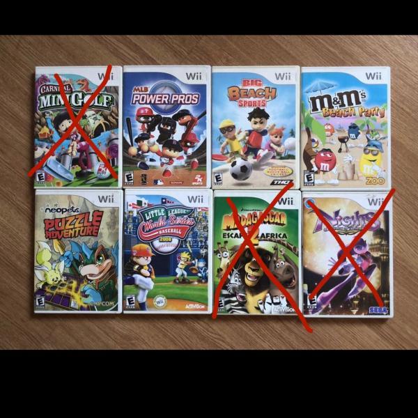 Combo 5 jogos originais wii