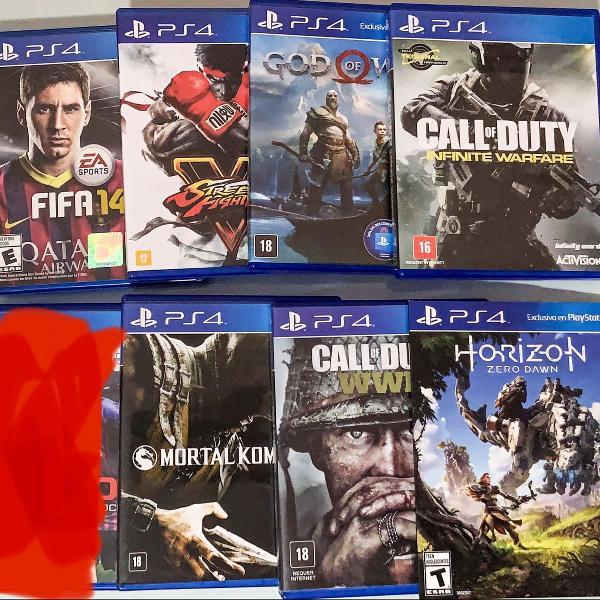 Kit 7 jogos playstation 4