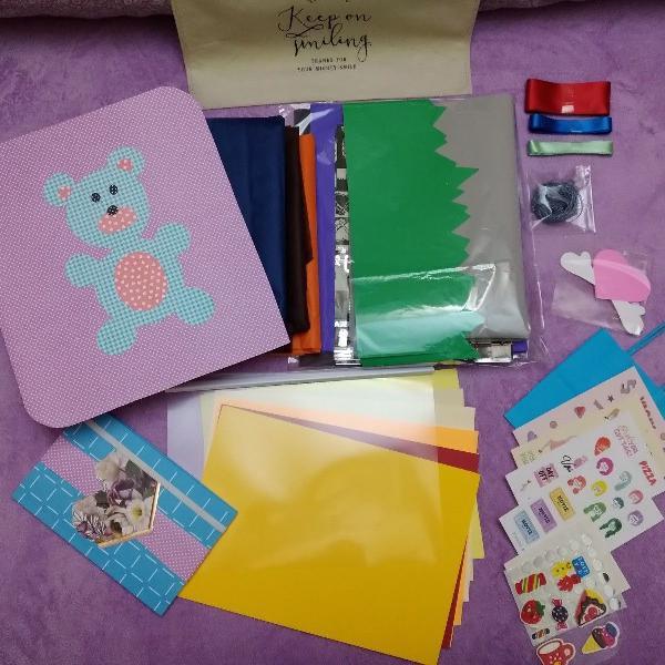 Kit para scrapbook basics bear artesanal