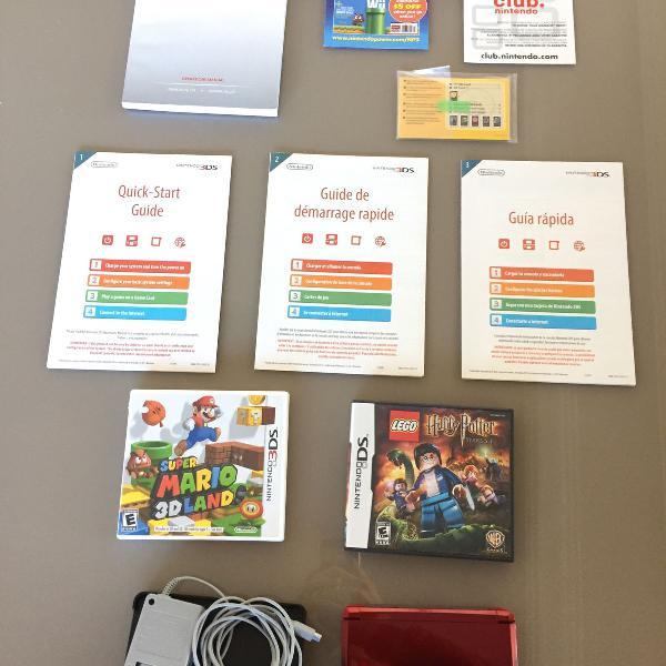 Nintendo 3ds completíssimo + 2 jogos