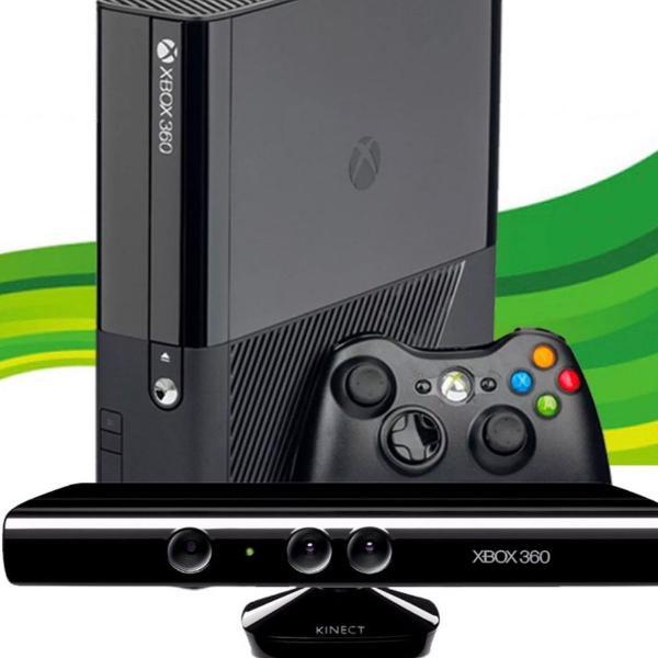 Xbox 360 super slim + kinect + jogos