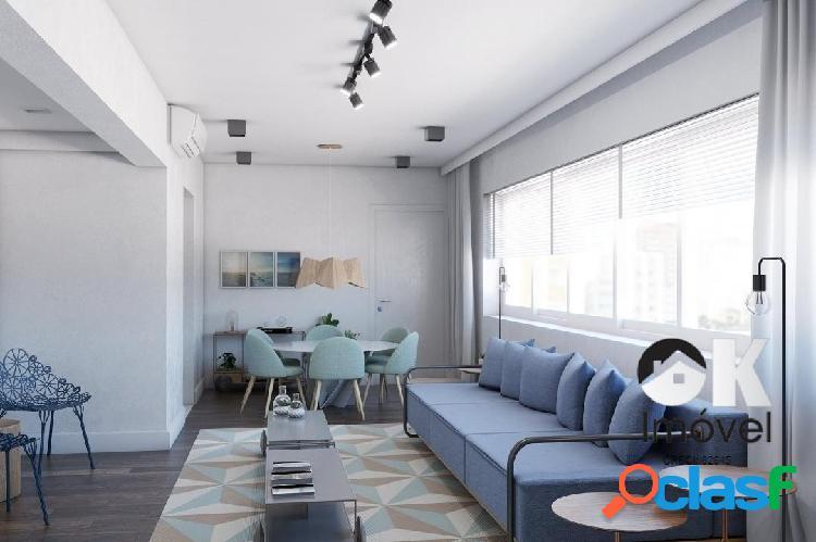 Apartamento reformado: 106m², 3 quarto e 1 vaga – jardim américa