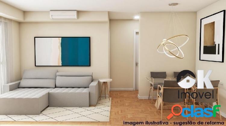 Apartamento reformado: 69m², 1 quarto e 1 vaga – jardim américa