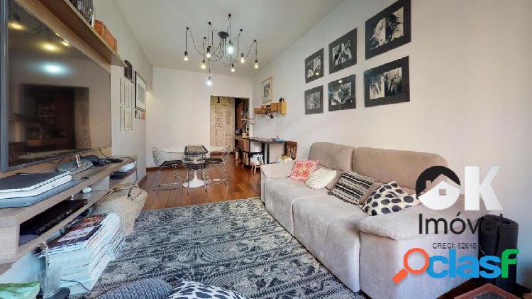 Rua tupi: 97m², 2 quartos e 1 vaga – bairro higienópolis