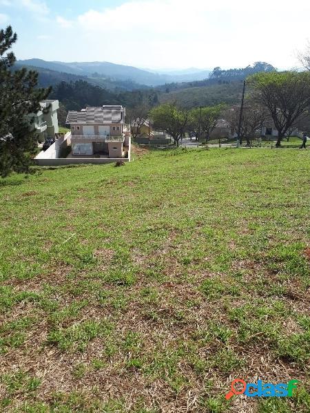 Terreno em condomínio fechado de alto padrão (embu guaçu 1000 m2