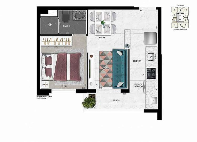 1 dormitorio a 250 metros do metro vila prudente