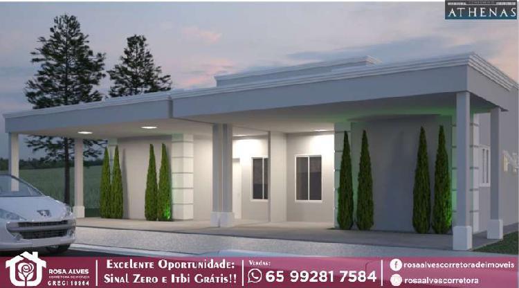 Athenas | condomínio de casas de 02 quartos | cuiabá |