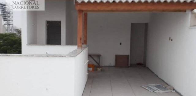 Cobertura residencial à venda, vila américa, santo andré