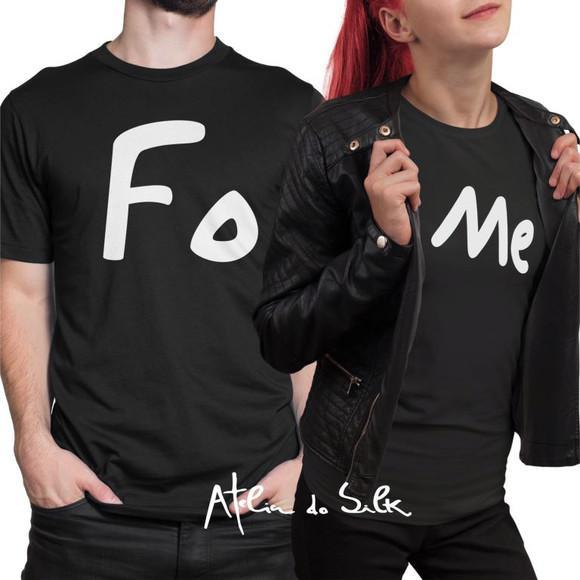 Kit camisetas namorados fome casal