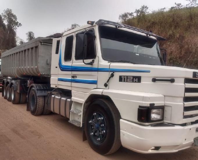 Scania t 112 h com carreta basculantes randon