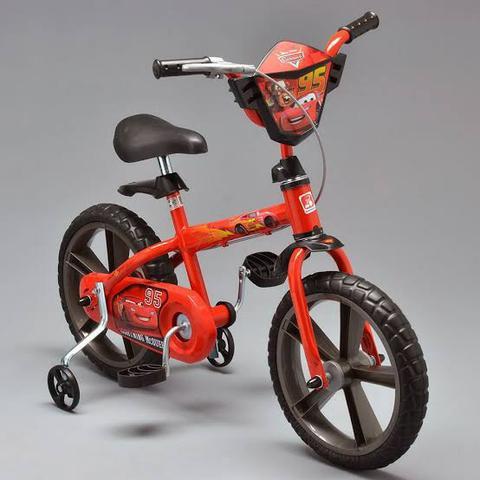 Bicicleta infantil disney carros aro 15