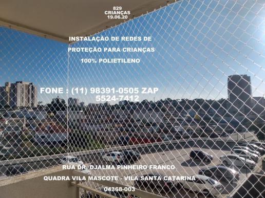 Instalação de redes de proteção na vila santa catarina,