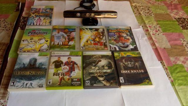 Kinect para xbox 360 com 9 jogos para xbox