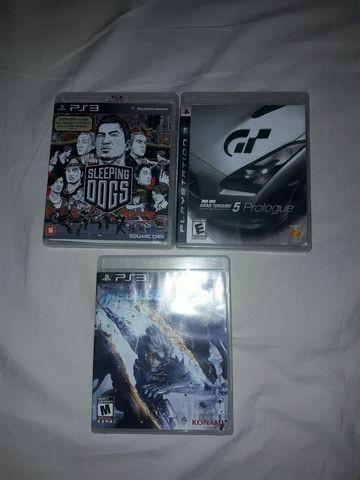 Lote de 3 jogos ps3