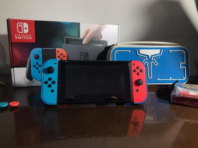 Nintendo switch zero com nota + jogos