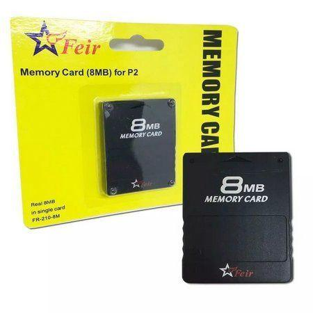 Playstation 2 memory card preto sony 8mb - cartão de