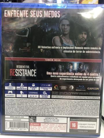 Resident evil 3 ps4 novo lacrado
