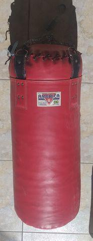 Saco de boxe/pancada américa 95 lb couro sintético +