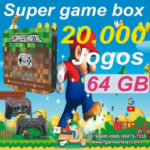 Video game retro com 20.000 jogos antigos 64gb