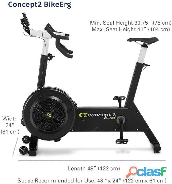 Concept2 bikeerg com monitor pm5, bicicleta estacionária