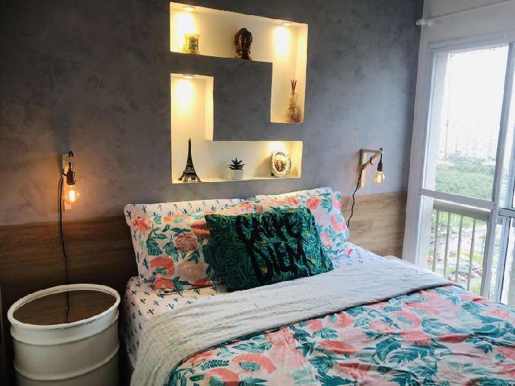 Apartamento decorado 2 quartos no cidade jardim - reserva do