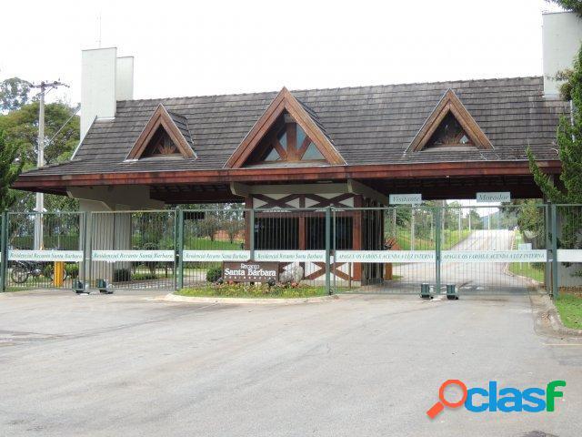 Terreno 1.000 m² condomínio santa barbara