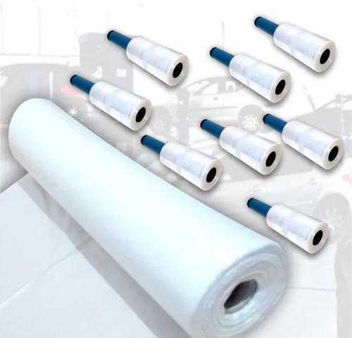 1 rolo capa plástica descartável de banco 8 filme
