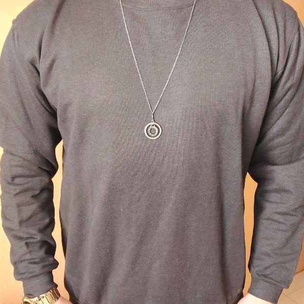 Blusa de moletom masculino, veste p e m, flanelado por