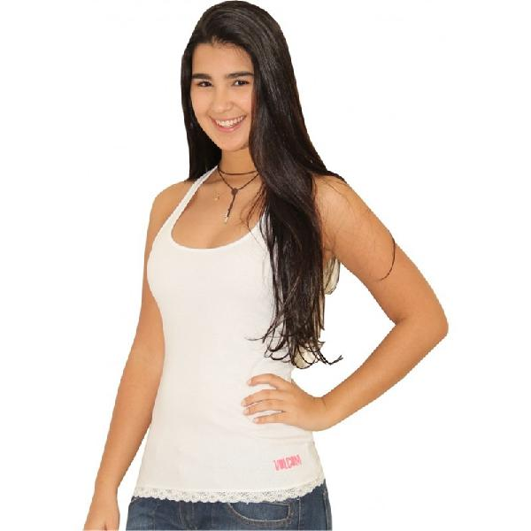 Camiseta regata volcom only feminina branca - surfalive