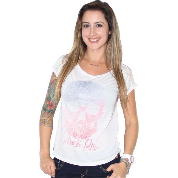 Camiseta rip curl skull love feminina white - surfalive