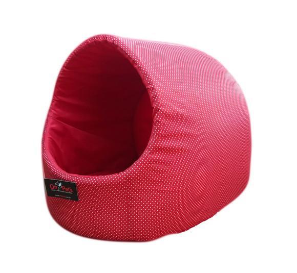 Caminha para cachorro/gato iglu grande amoepet vermelho poa