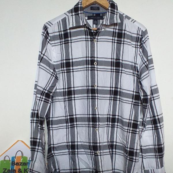 Camisa xadrez manga longa tommy hilfiger original